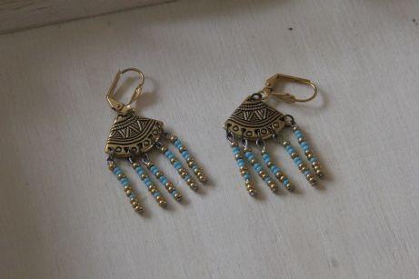 Boucles d'oreille aztèques