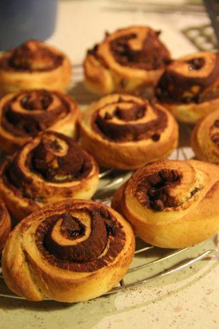 Brioches roulées au chocolat faççon connamon rolls