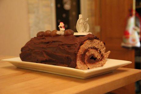 Bûche chocolat - marrons